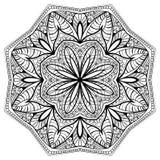 Флористическая мандала с затейливой картиной Стоковые Изображения RF