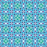 Флористическая морокканская картина мозаики Стоковое Изображение RF