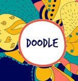 Флористическая нарисованная вручную предпосылка doodle Стоковые Фотографии RF