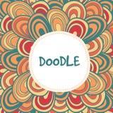 Флористическая нарисованная вручную предпосылка doodle Стоковое фото RF