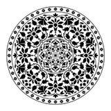 флористическая орнаментальная картина круглая Стоковое Изображение RF