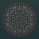 флористическая орнаментальная картина круглая Стоковая Фотография RF