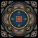 флористическая орнаментальная картина круглая Стоковые Изображения RF