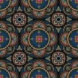 флористическая орнаментальная картина круглая Стоковые Фотографии RF