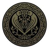 флористическая орнаментальная картина круглая Стоковое фото RF
