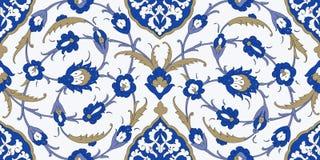 флористическая орнаментальная картина Традиционный арабский безшовный орнамент Стоковое фото RF