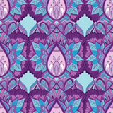 Флористическая орнаментальная предпосылка картины Стоковые Фотографии RF