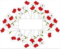 Флористическая предпосылка картины Стоковые Изображения