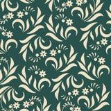 Флористическая предпосылка на зеленом цвете иллюстрация штока