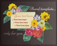 Флористическая рамка лета Стоковое Фото
