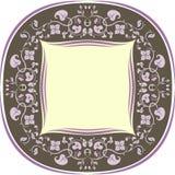 Флористическая рамка картины кругло Брайн и сирень бесплатная иллюстрация