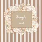 Флористическая рамка на striped предпосылке Стоковые Фотографии RF