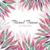 флористическая рамка обрамляет серию Предпосылка вектора Стоковое Изображение