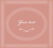 флористическая рамка обрамляет серию 1 приглашение карточки Стоковая Фотография