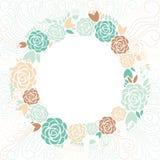 флористическая рамка обрамляет серию Стоковая Фотография