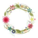 флористическая рамка обрамляет серию Стоковые Изображения