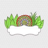 флористическая рамка обрамляет серию Стоковая Фотография RF