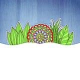 флористическая рамка обрамляет серию Стоковое Изображение