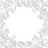 флористическая рамка обрамляет серию Стоковое Изображение RF