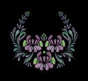 флористическая рамка обрамляет серию Стоковые Фотографии RF