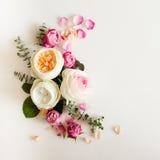 Флористическая рамка свадьбы Стоковое Изображение RF