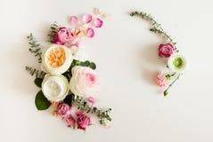 Флористическая рамка свадьбы Стоковые Изображения RF