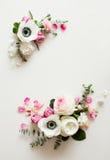 Флористическая рамка свадьбы Стоковая Фотография