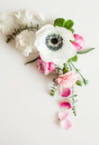 Флористическая рамка свадьбы Стоковое фото RF
