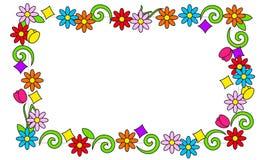 Флористическая рамка ярких цветов иллюстрация штока