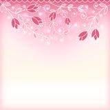 Флористическая розовая предпосылка иллюстрация вектора