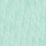 Флористическая салатовая безшовная картина Стоковое Фото