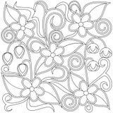 Флористическая страница расцветки Стоковое Фото