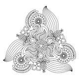 Флористическая страница расцветки Стоковые Изображения RF