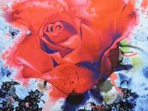 Флористическая текстура ткани Стоковая Фотография RF