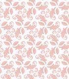 Флористическая точная безшовная картина вектора Стоковые Изображения