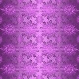 Флористическая фольклорная фиолетовая безшовная картина Стоковое Изображение RF