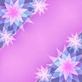 Флористические абстрактные фиолетовые предпосылка, приглашение или g Стоковое фото RF