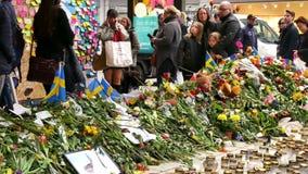 Флористические дани в Стокгольме сток-видео
