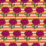 Предпосылка красивейшего год сбора винограда безшовная флористическая Стоковое Изображение