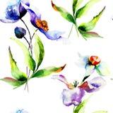 флористические безшовные обои Стоковая Фотография RF
