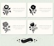 Флористические визитные карточки Стоковая Фотография RF