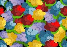 Флористические винтажные безшовные обои Стоковые Фотографии RF