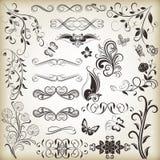 Флористические винтажные элементы дизайна бесплатная иллюстрация