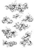 Флористические винтажные элементы дизайна Стоковые Изображения RF