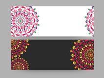 Флористические заголовок вебсайта или комплект знамени иллюстрация вектора