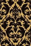 флористические золотистые обои Стоковые Фото