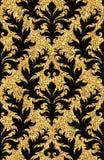 флористические золотистые обои Стоковые Изображения