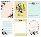Флористические карточки Стоковое Изображение