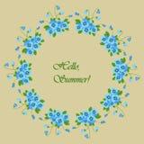 Флористические круглые рамки от цветков pansy Стоковые Фотографии RF
