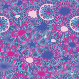 Флористические нарисованные вручную обои Стоковые Фото